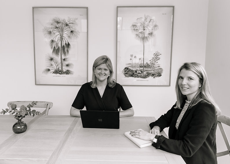 Anna Cocke and Francesca Powell of Omnium Private who offer Executive Assistance and Family Office Services