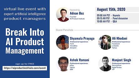 Break Into AI Product Management  event