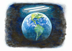 Earth with tubes