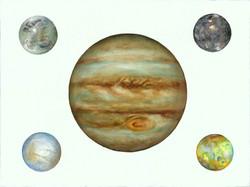Jupiter and Galileo Moons