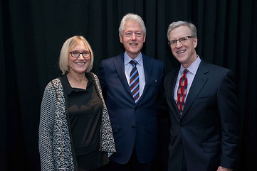 Sari Bodi with President Bill Clinton