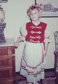 Sari Bodi in Hungarian costume