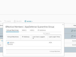 AppDefense remediation actions with NSX integration