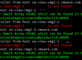 Check your VSAN disk controllers on VCG with PowerCLI