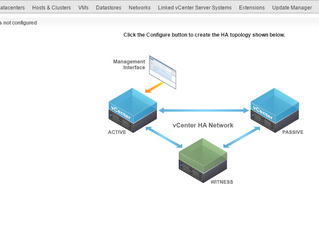CONFIGURING vCENTER 6.5 HIGH AVAILABILITY