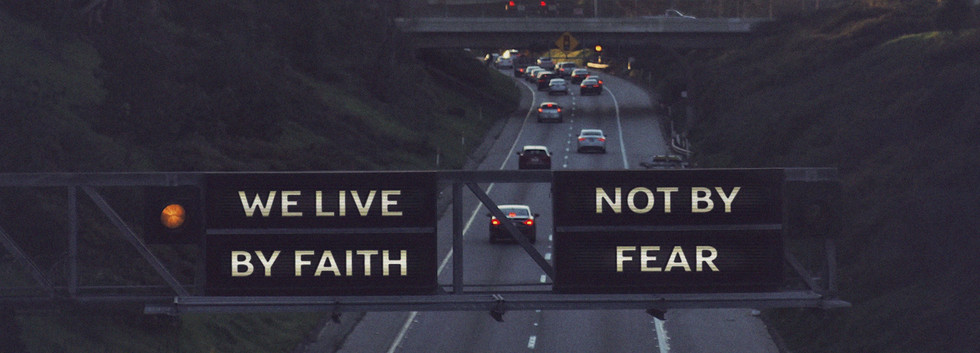 We Live By Faith Not By Fear Traffic Lig