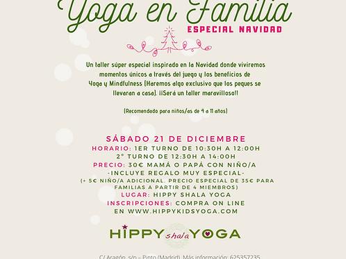 Taller de Yoga en Familia, Especial Navidad - (2 Horarios o turnos a elegir)