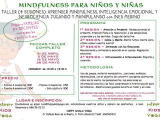 TALLER (4 SESIONES): APRENDER MINDFULNESS, INTELIGENCIA EMOCIONAL Y NEUROCIENCIA JUGANDO Y MANIPULAN