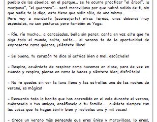 Súper deberes de Hippy Kids Yoga para este verano
