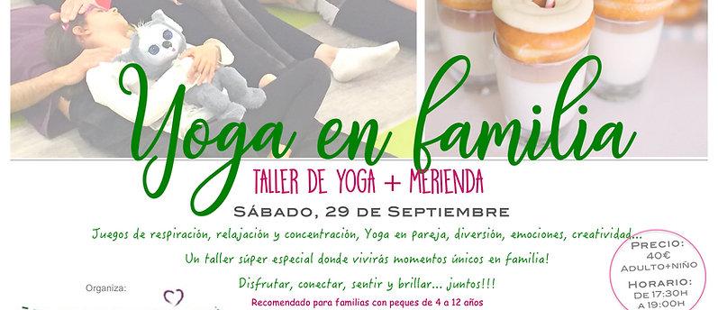 Taller de Yoga en Familia + Merienda en Organic Market & Food