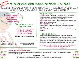 ¡¡NUEVAS FECHAS!! TALLER EN FAMILIA DE MINDFULNESS, INTELIGENCIA EMOCIONAL Y NEUROCIENCIA CON LA PED