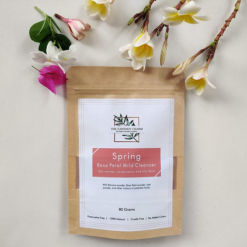Spring Rose Petal Mild Cleanser (For Normal , Combination and Oily Skin)
