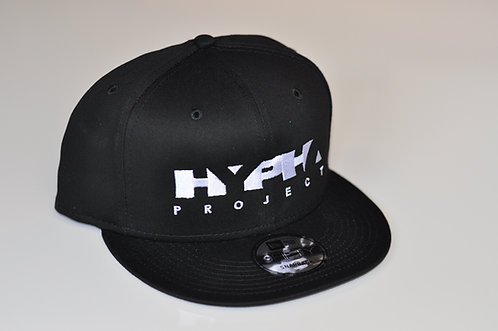 New Era Flat Brim Snap-Back Embroidered Cap - Black