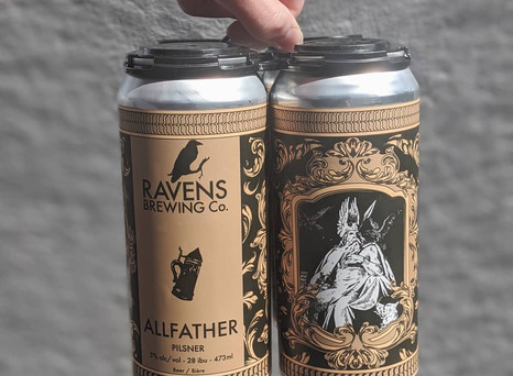 Allfather Pilsner - NEW from Ravens Brewing!