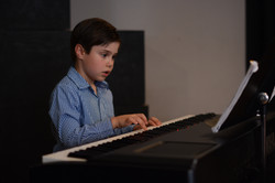 Nick on piano