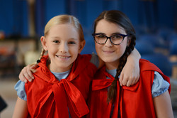 Annabelle & Bea as Little Reds
