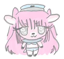 link to untitled game project, a picture of a cute pink deer girl