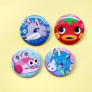 villager buttons