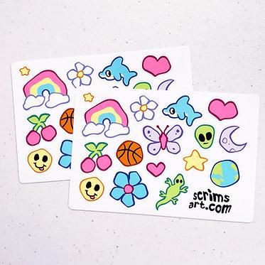 Wobbly Y2K Stickers