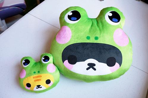 Froggy Cat Plush Pillow