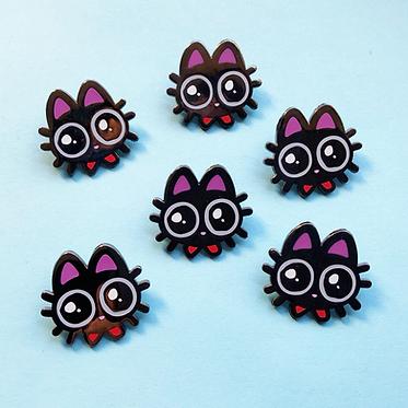 Kitty Googly Eyes Enamel Pin
