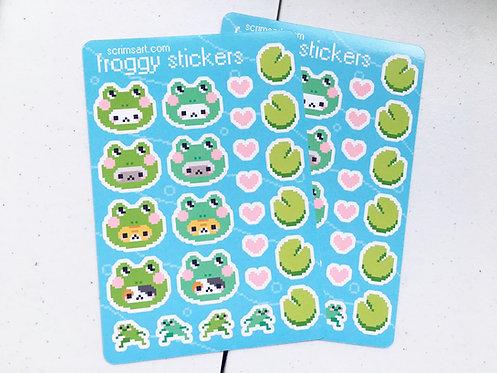 Froggy Cat Sticker Sheet