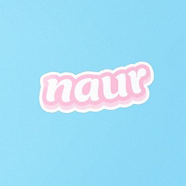 naur sticker