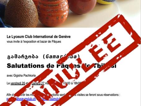 """""""გამარჯობა"""" (Gamarjoba) - Manifestation annulée"""