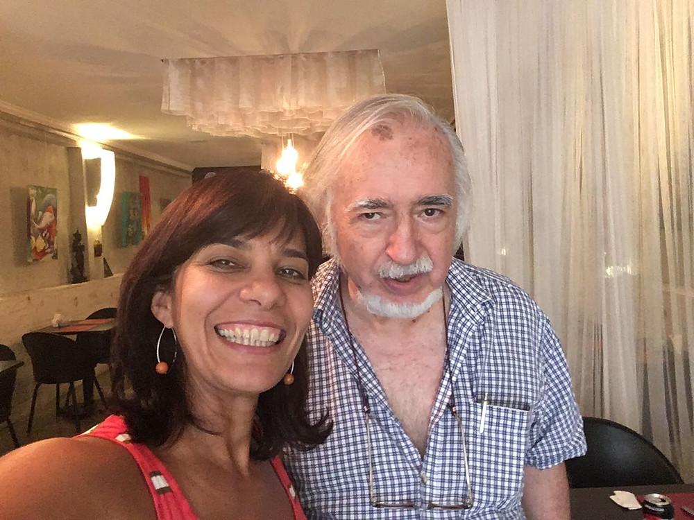 À esquerda, Elisa Muradas. À direita, Augusto Burle.