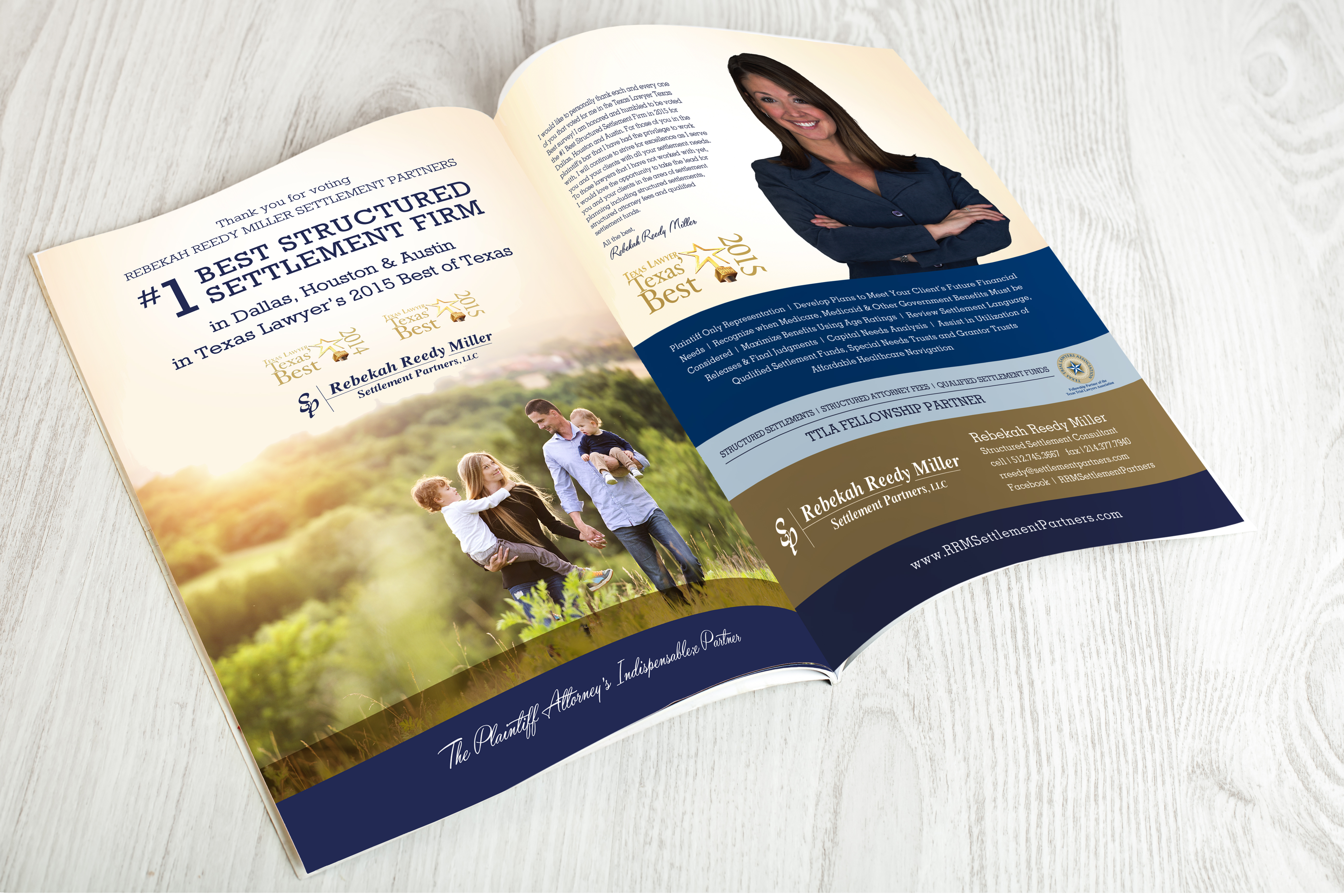 Rebekah Reedy Miller Settlements Ad