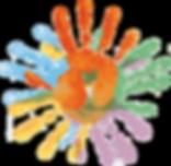 converging hands logo design