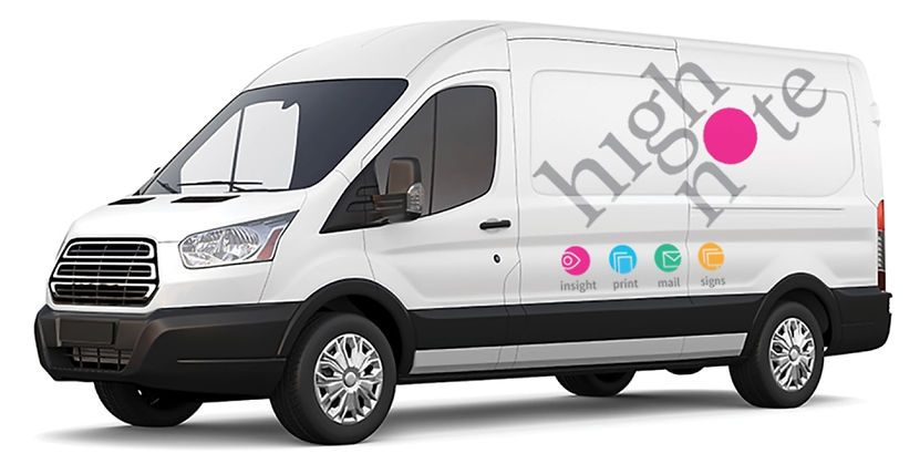 Highnote vehicle branding