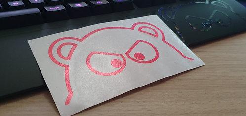 PINK GLITTER HIPPO