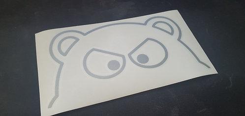Silver Hippo Sticker