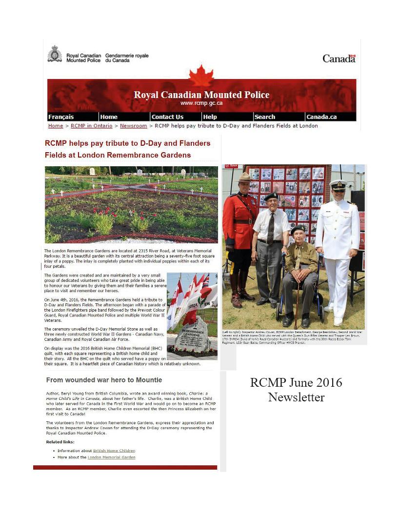 RCMP Newsletter 2016