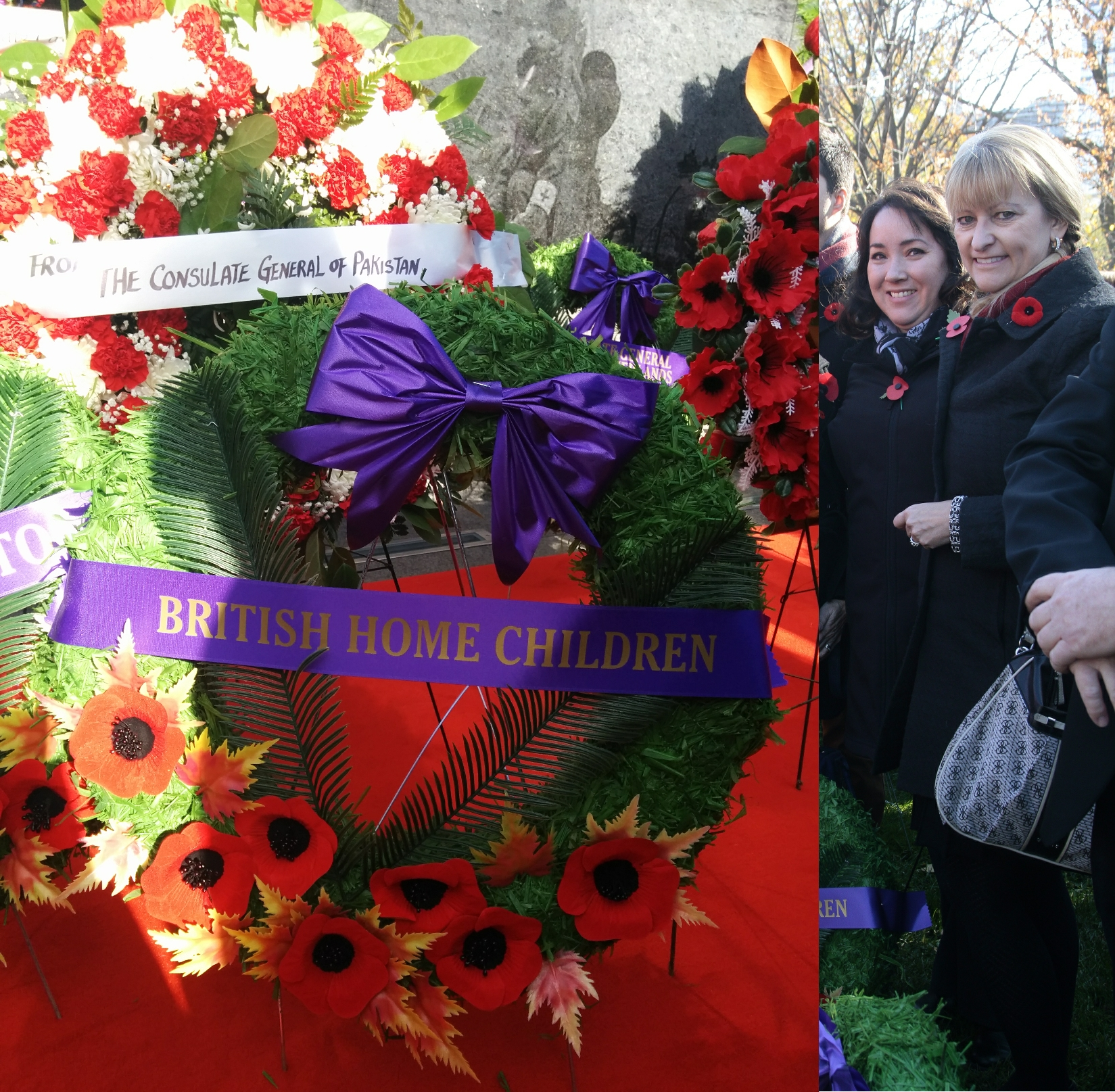 Queen's park wreath laying 2014