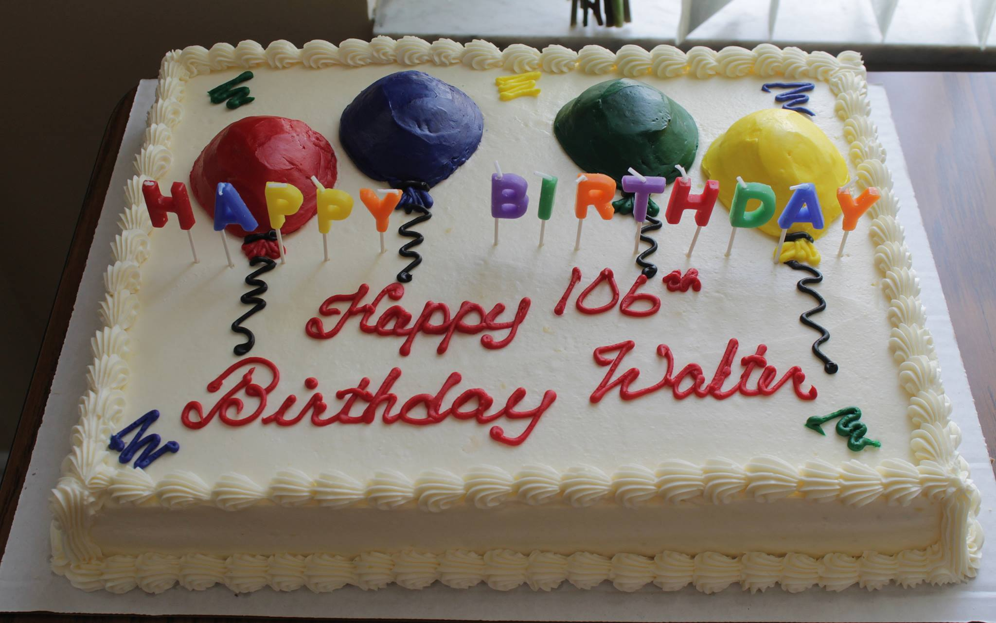 Cake for Walter Goulding's Birthday
