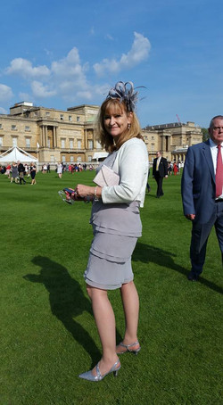 Ms. Oschefski at Buckingham Palace