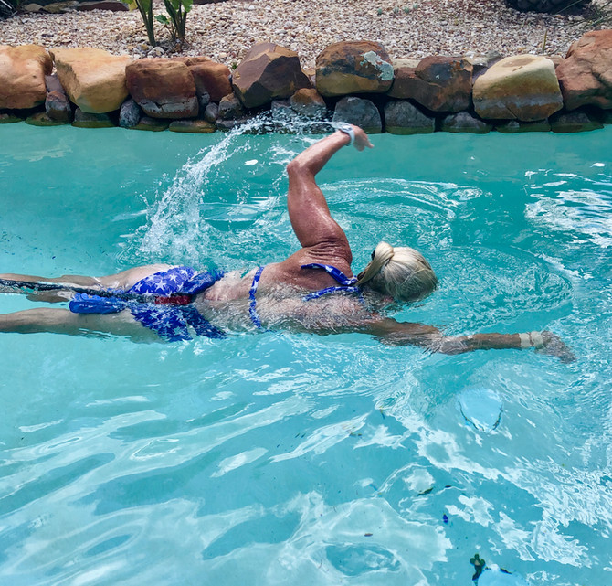 Bungee Cord Swim Workout