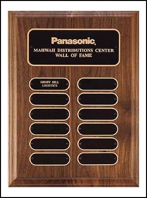 Solid American walnut perpetual plaque