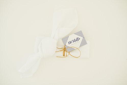 White Cloth Napkins, Set of 4