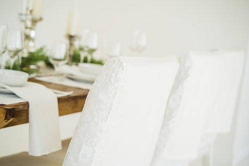 Here comes the bride...  Parson Chair Covers, Set of 2