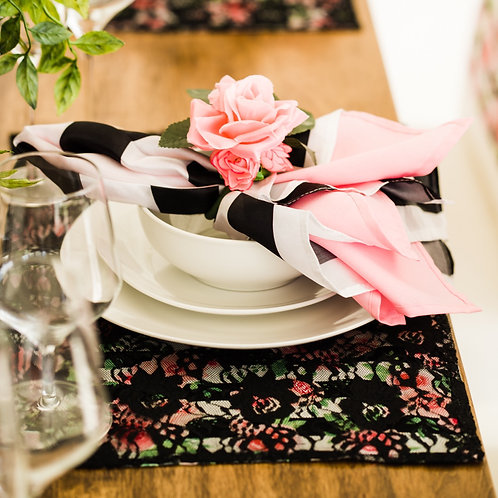 Floral Napkin Rings, Set of 2