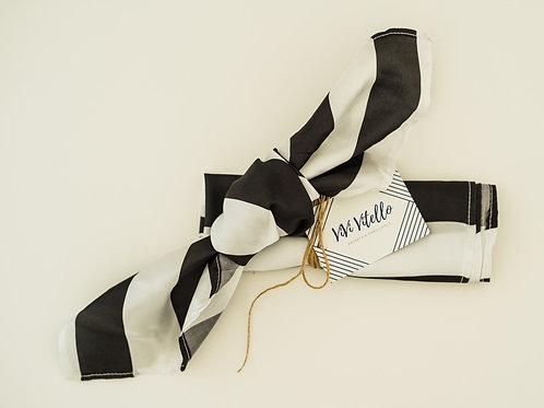 Striped Satin Napkins, Set of 2