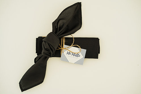 Black Cloth Napkins, Set of 4