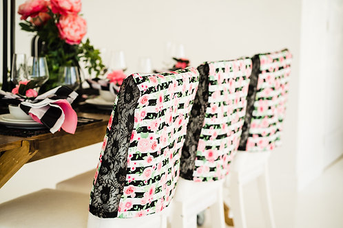 Glam Girl!  Parson Chair Covers, Set of 2