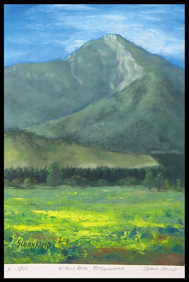 WITELS PEAK. Signed limited-edition print, by Susan Kemp.