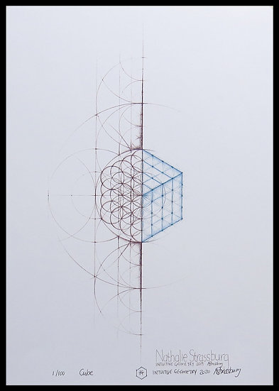 CUBE. Signed, limited-edition print by Nathalie Strassburg.