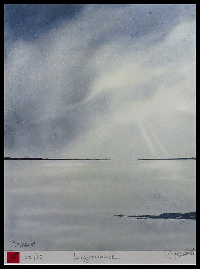 LIGHTHOUSE. Signed limited-edition print by Johan Brink.