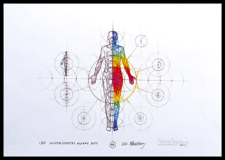 ANATOMY BODY. Signed, limited-edition print by Nathalie Strassburg.